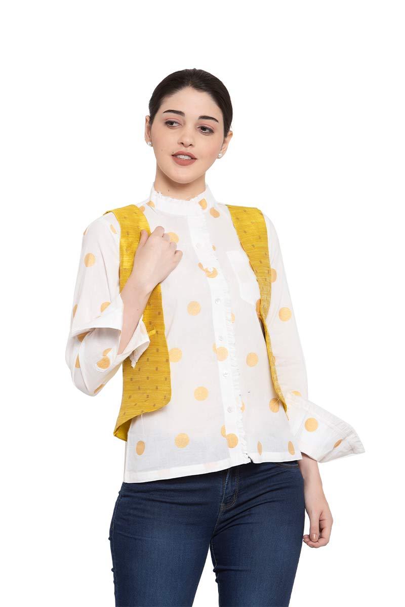 Polka Dot Shirt With Jacket_3